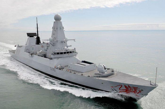 """В Черное море зашел эсминец  ВМС Великобритании """"Dragon"""""""
