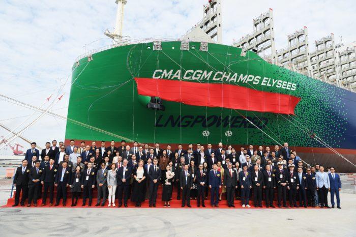 """CMA CGM получила новый """"зеленый"""" СПГ-контейнеровоз на 23 тыс. TEU"""