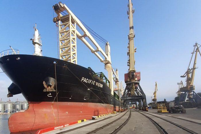 На реконструированном причале №7 Одесского порта обработали первое судно