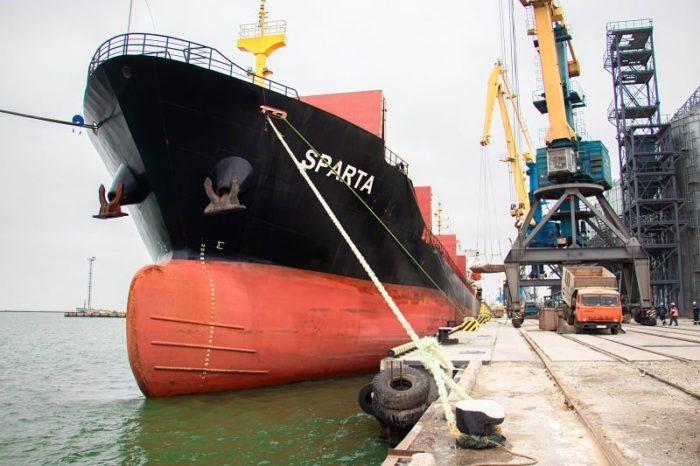 Первое судно принял Мариупольский порт на отремонтированном причале (ФОТО)