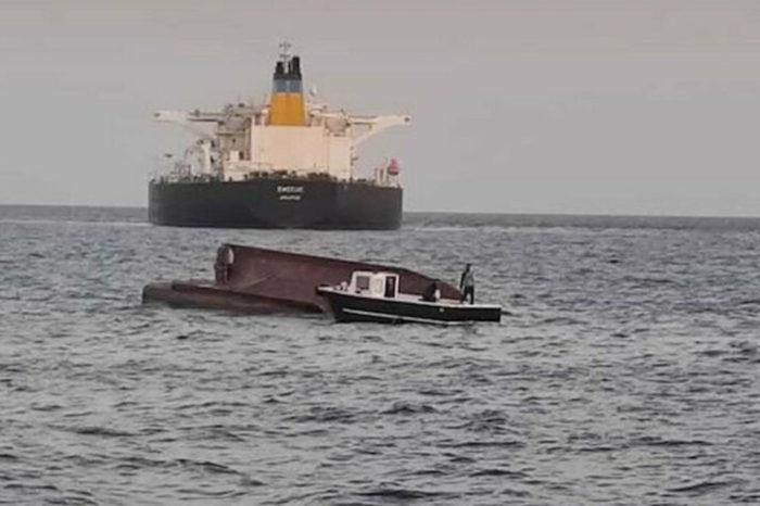 Танкер столкнулся с турецким рыболовным катером