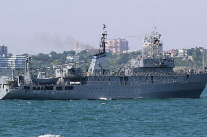 Корабль ВМС вышел в пункт базирования после ремонта в Николаеве