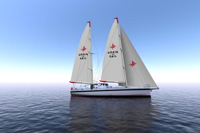 Грузовой парусник Grain de Sail отправился в первый рейс через Атлантический океан