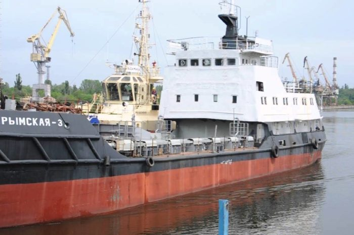 """Грунтоотвозное судно """"Крымская-3"""" отправили в ремонт"""