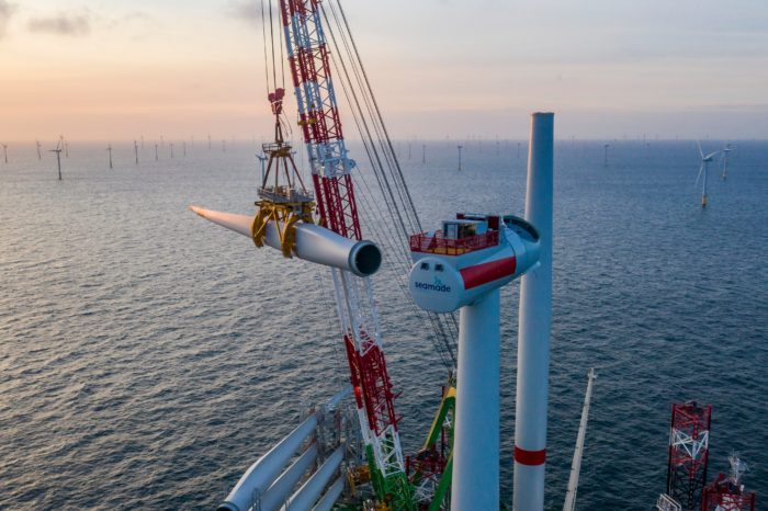 Завершено строительство крупнейшей ВЭС в Северном море