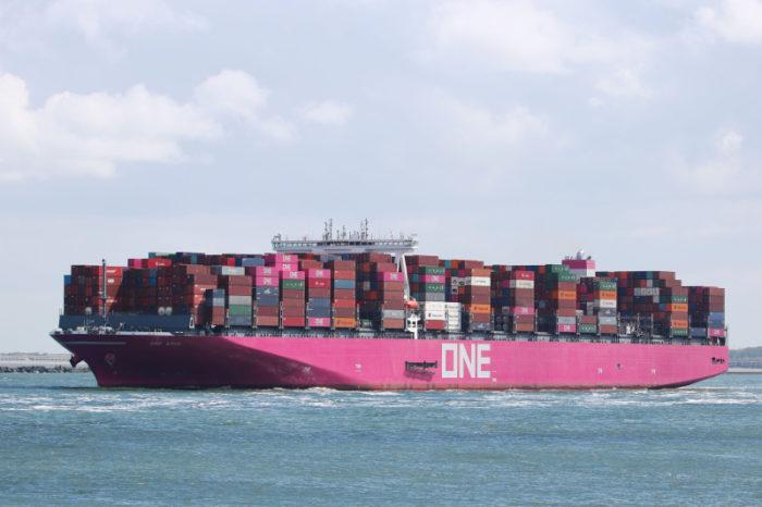 ONE Apus потерял четверть своих контейнеров в Тихом океане
