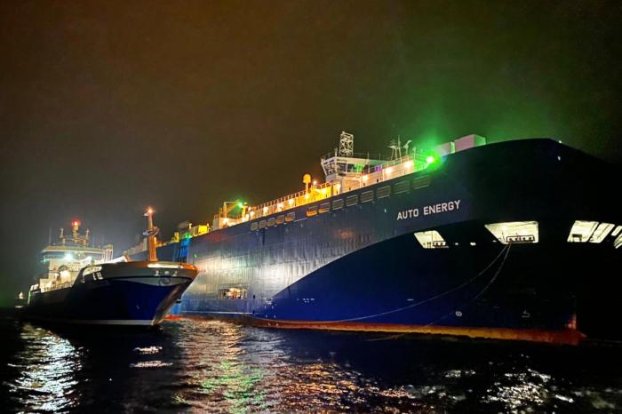 В Швеции прошла первая бункеровка ship-to-ship смесью из СПГ и биогаза