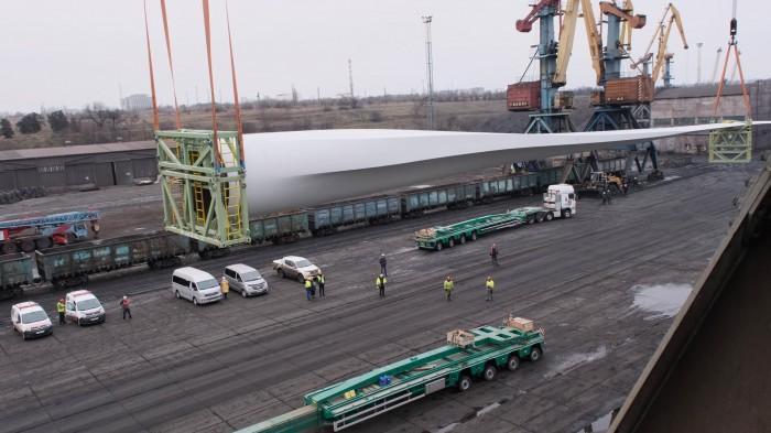 Второе судно с 72-метровыми лопастями пришло в ГП «МТП «Южный»