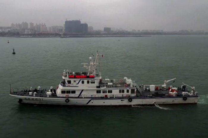 В Китае начало работу первое судно для эксплуатации и обслуживания подводных линий (ВИДЕО)