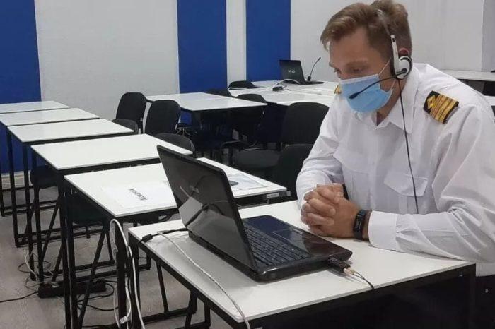 Украинский моряк снял на видео процесс электронного тестирования