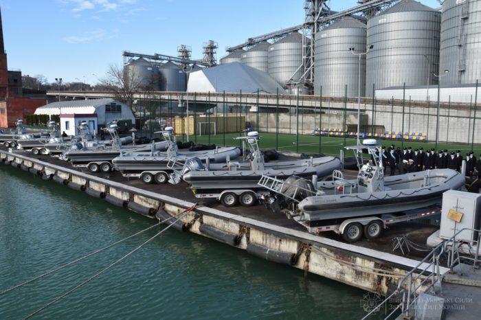 Военно-морской флот Украины пополнился американскими лодками и катерами