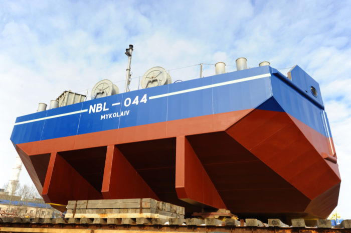 «Нибулон» в рабочем режиме спустил на воду шестое несамоходное судно проекта NBL-91