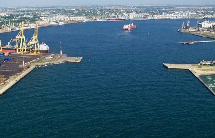 В Черноморском порту тушили пожар