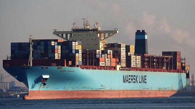 Судно Maersk потеряло более сотни контейнеров в Тихом океане