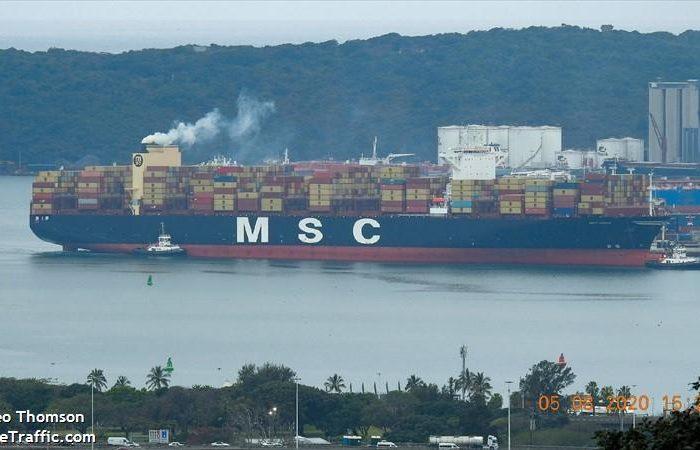 В Тихом океане судно MSC потеряло контейнеры