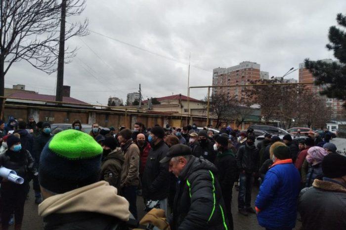 Украинские моряки снова выходят на митинги