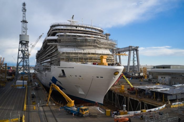 Шестой круизный лайнер для Princess Cruises спустили на воду