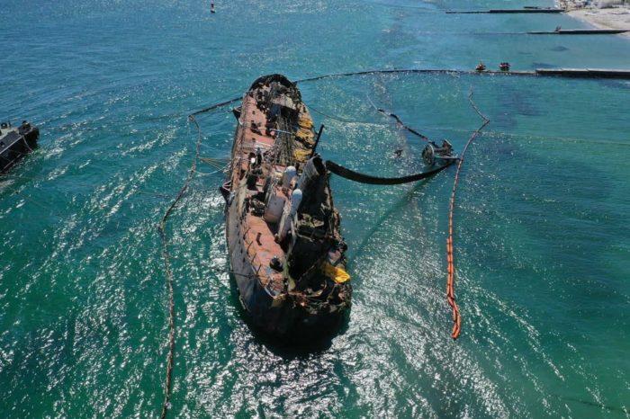 Владелец Delfi возместит АМПУ 2,7 млн грн за эвакуацию судна с пляжа
