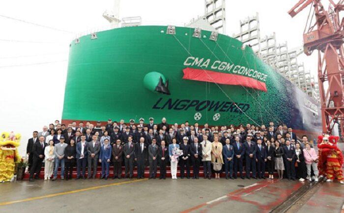 Новый контейнеровоз CMA CGM на СПГ сдали в эксплуатацию