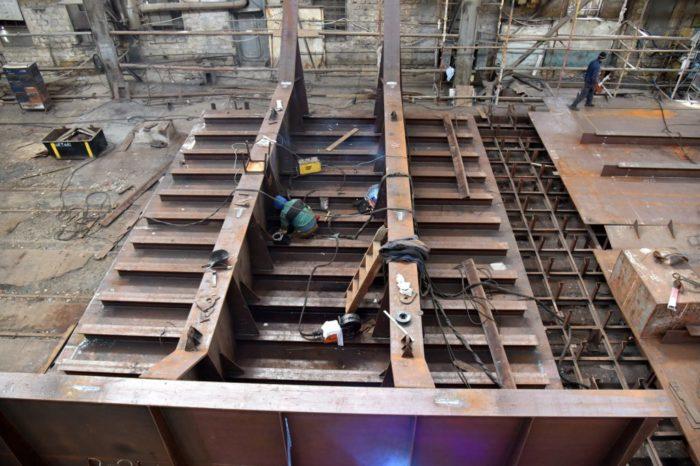 Завод «Океан» восстанавливает работоспособность сухого дока