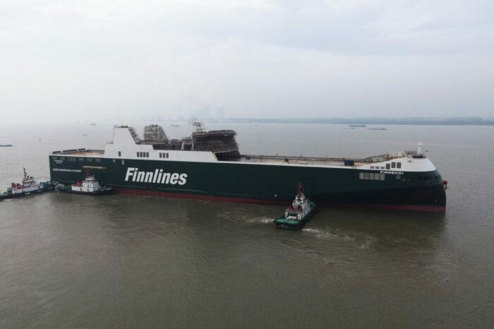 Первый гибридный ро-ро Finnlines I спустили на воду в Китае