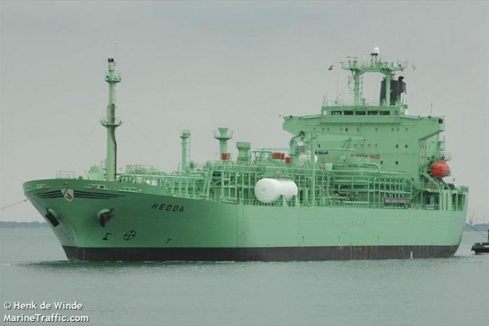 Экипаж газовоза Hamburg DW пострадал после утечки аммиака, есть погибший
