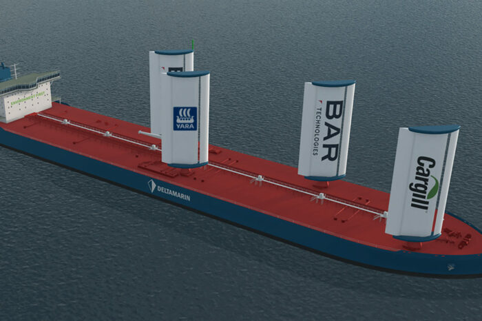 BAR Technologies и Yara Marine создадут жесткие паруса для судна Cargill