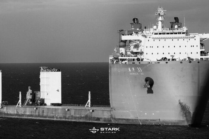 В порт Черноморск прибыло судно под погрузку китайского дноуглубительного флота