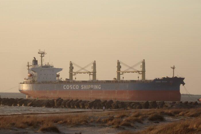 С балкера Cosco у Сахалина вылилось более тонны нефтепродуктов (ВИДЕО)