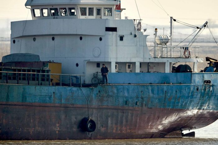 Грузовое судно Северной Кореи затонуло у побережья Японии