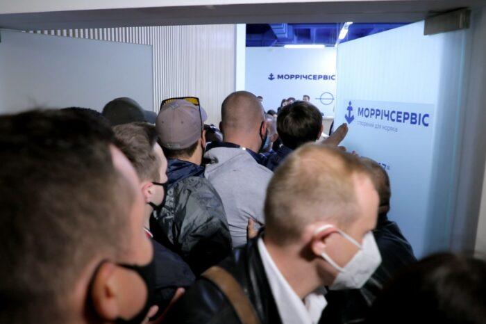 Моряки протестовали в «Морречсервисе» против коррупции