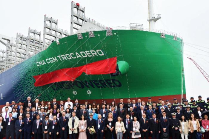 CMA CGM получила восьмой СПГ-контейнеровоз на 23 тыс. TEU