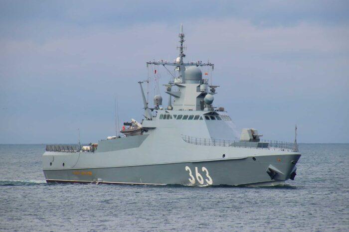 Возле Черноморска обнаружили российский патрульный корабль