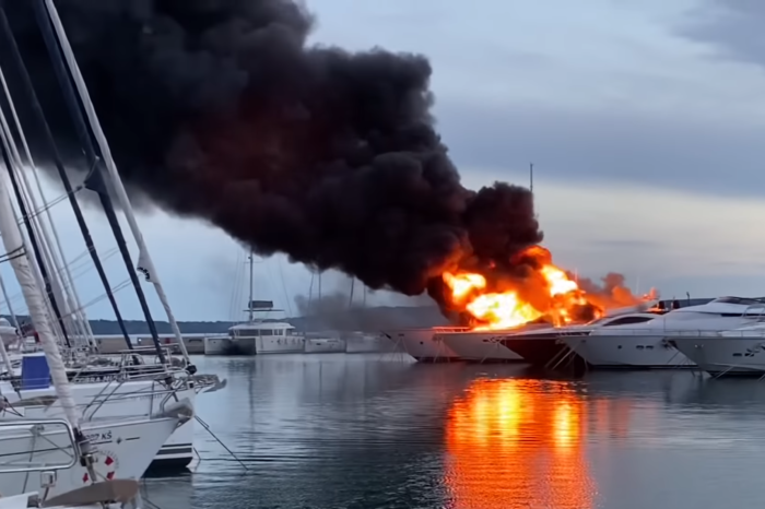 Пожар на марине в Хорватии: ущерб на миллионы евро (ВИДЕО)