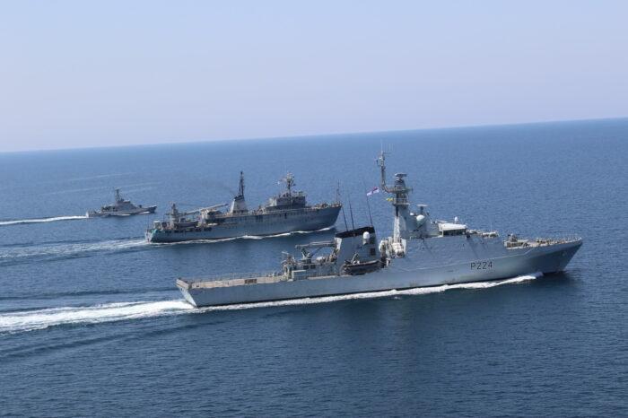 В Черном море ВМС Украины и Великобритании провели совместные учения