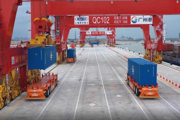 Видео дня: запуск автоматизированного причала в порту Гуанчжоу