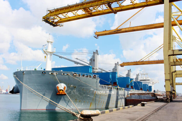 В порту Черноморск обработали первый в году балкер с углем