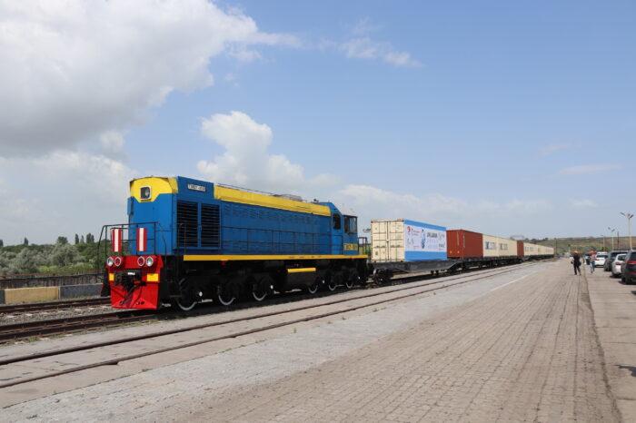Как в Южном встречали первый контейнерный поезд с юга Китая