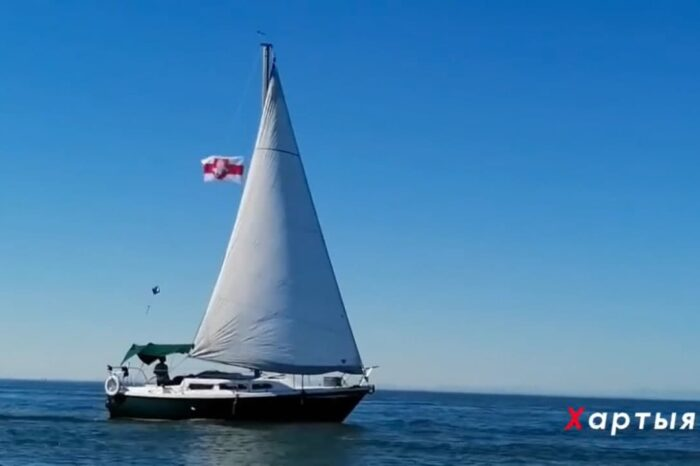 Видео дня: морской пикет в поддержку Беларуси