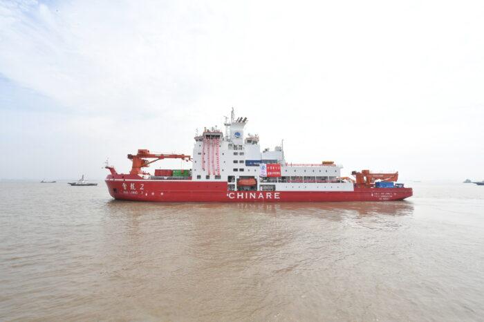Китайский ледокол вышел во вторую экспедицию к Северному полюсу