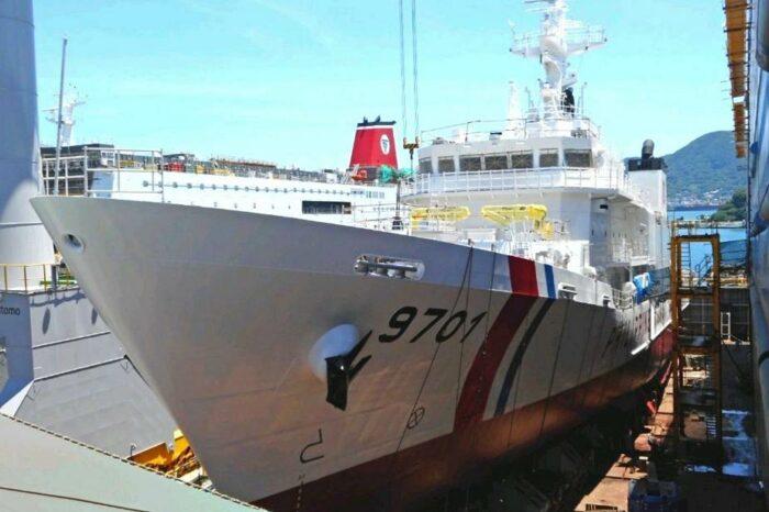 В Японии спустили на воду многоцелевое судно для Филиппин