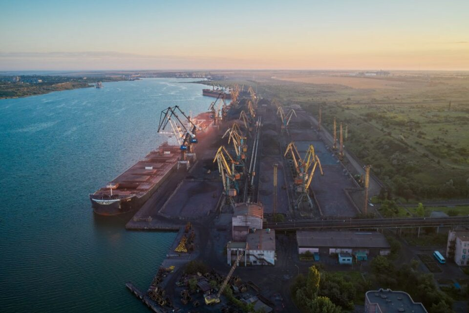 More than 60 million tons of cargo were transshipped through Ukrainian ports in six months