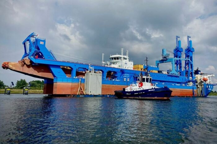 Видео дня: земснаряд для расширения Суэцкого канала прибыл на объект