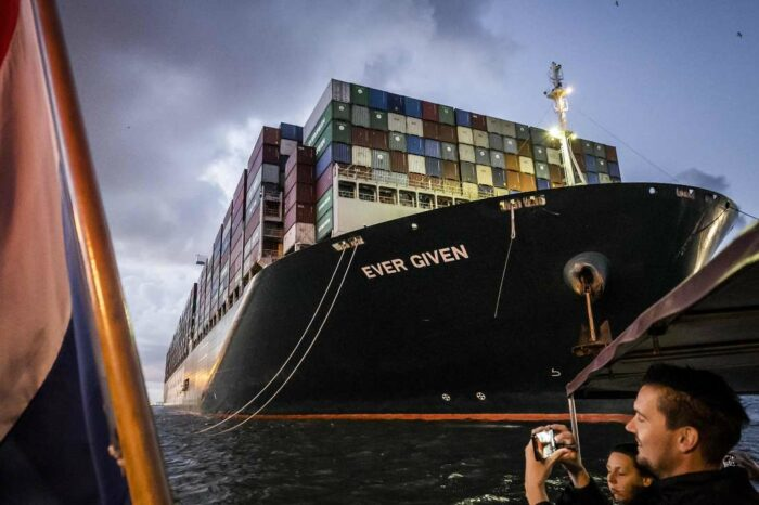 Порт Роттердам открыл экскурсию к Ever Given