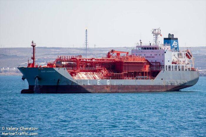 В Одессу направляется LPG-танкер из Греции