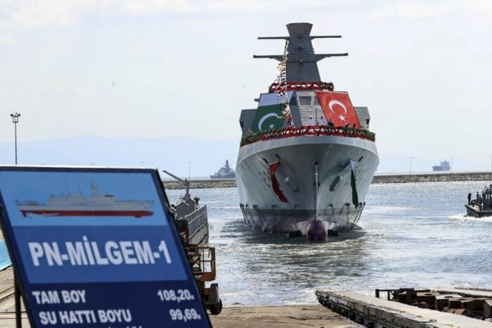 В Турции спустили на воду корвет для ВМС Пакистана