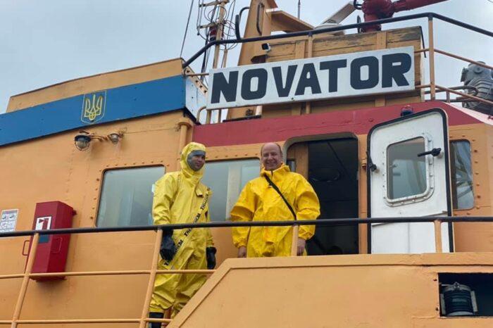 В Одесском МТП учились ликвидировать химические загрязнения
