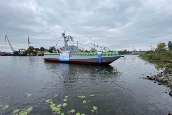 В Киеве спустили на воду восьмой бронекатер для ВМС Украины