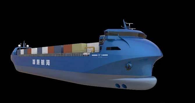 Беспилотный контейнеровоз построили в Китае