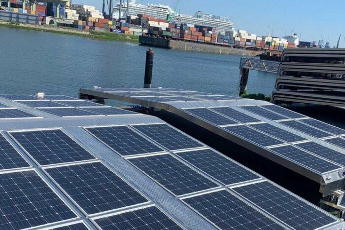 На речном флоте в Роттердаме тестируют солнечные батареи